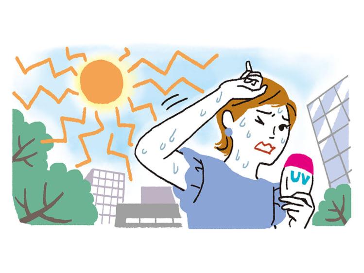 ウォータープルーフ機能のある日焼け止めを選びましょう