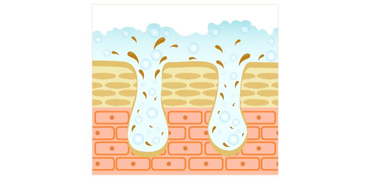 オイリー肌でも、皮脂は水洗顔で落とせます