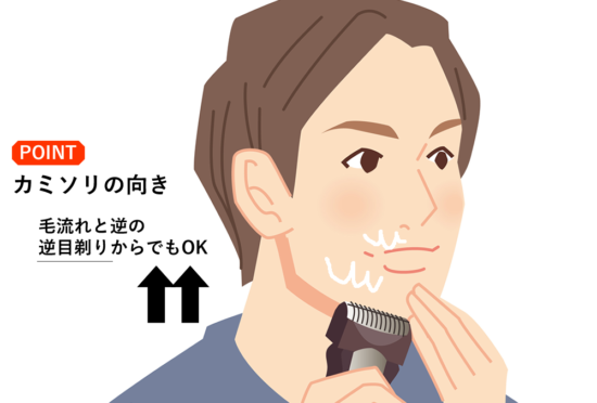 肌荒れを防ぐ髭の剃り方④電気シェーバー