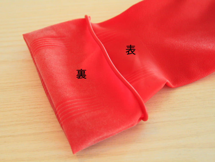 サラサラ素材で内側が蒸れず、乾きやすい