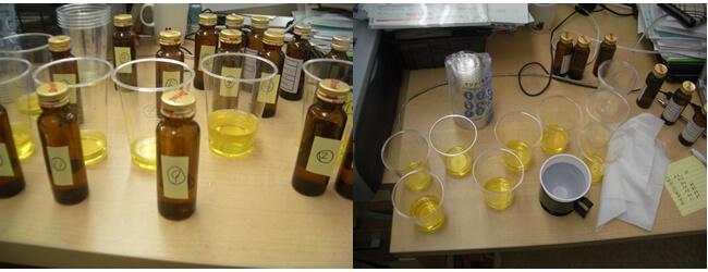 原料の種類や配合量などを変えた10種類以上の試作品を飲み比べたことも